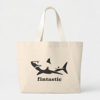 Shark - fintastic large tote bag