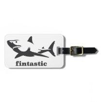 Shark - fintastic luggage tag
