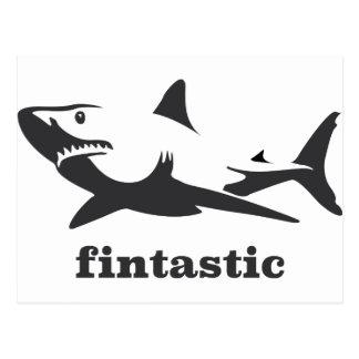 Shark - fintastic postcard