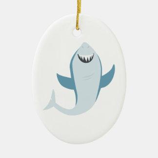 Shark Fish Ceramic Ornament