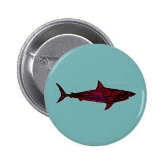 shark fish underwater pinback button