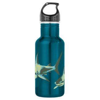 shark fish, wild animals 18oz water bottle
