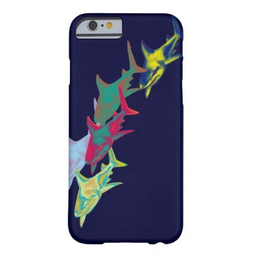 Beach Themed shark fish - wild animals barely there iPhone 6 case