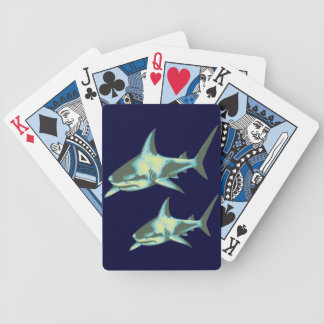 shark fish, wild animals bicycle playing cards