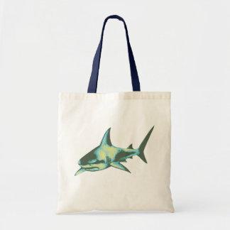 shark fish, wild animals budget tote bag