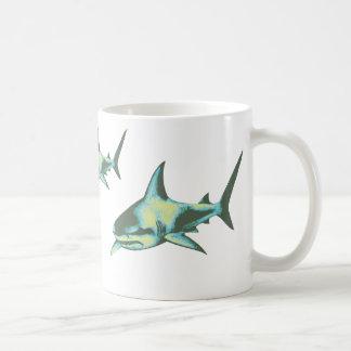 shark fish, wild animals coffee mug