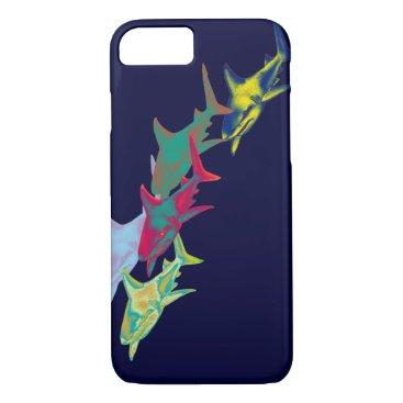 Beach Themed shark fish - wild animals iPhone 8/7 case