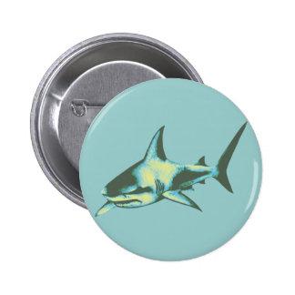 shark fish, wild animals pinback button