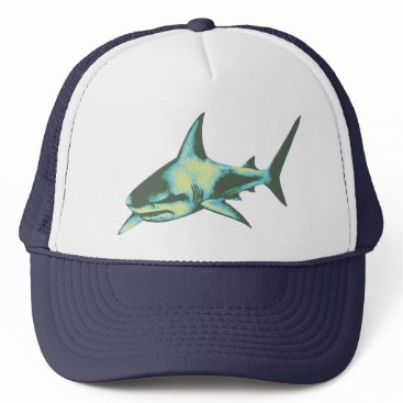 Beach Themed shark fish, wild animals trucker hat