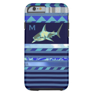shark fish with blue stripes tough iPhone 6 case