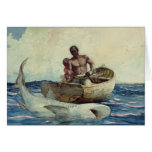 Shark Fishing, 1885 Card