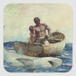 Shark Fishing, 1885 Square Sticker