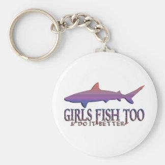 SHARK FISHING GIRL KEYCHAIN