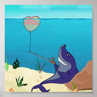 Shark 'Fishing' Poster