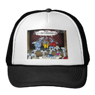Shark Folk Singers Funny Gifts Tees & Cards Trucker Hat