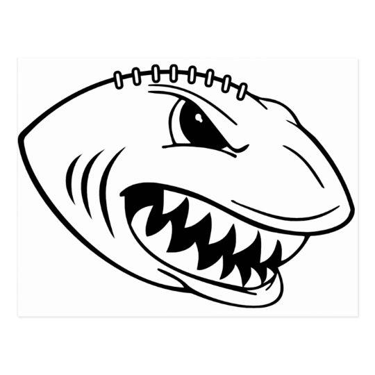 Shark Football Postcard