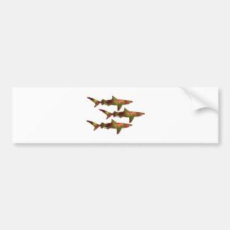 Shark Frenzy Bumper Sticker