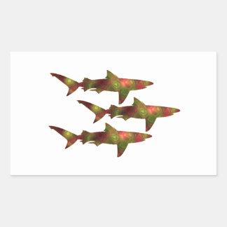 Shark Frenzy Rectangular Sticker