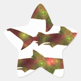 Shark Frenzy Star Sticker