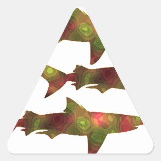 Shark Frenzy Triangle Sticker