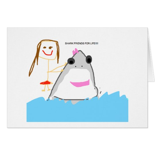 shark friends card