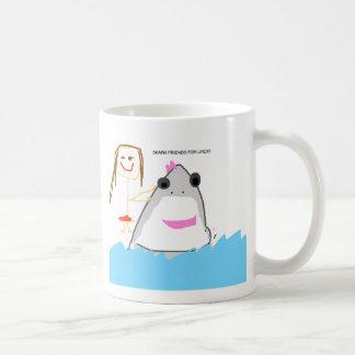 shark friends classic white coffee mug