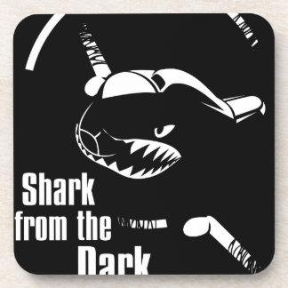 shark from the dark drink coaster