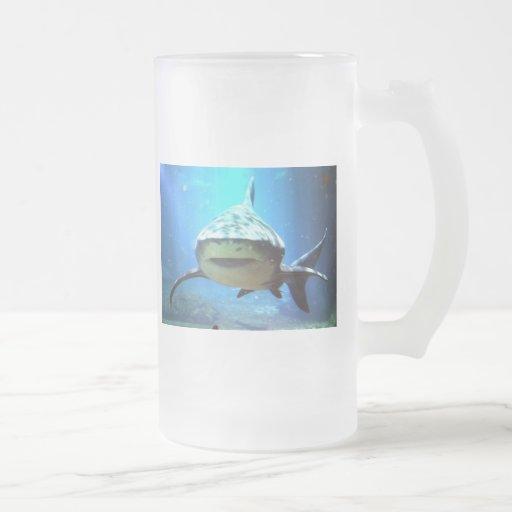 Shark Frosted Beer Mug