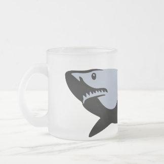 Shark Frosted Glass Coffee Mug