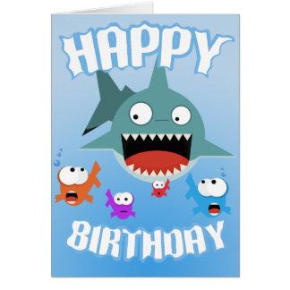 shark birthday greeting cards  zazzle, Birthday card