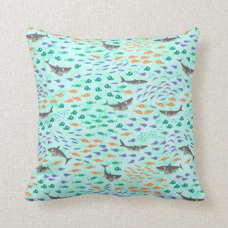 Shark Fun Throw Pillow