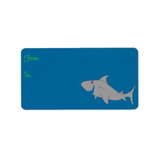 Shark Gift Label