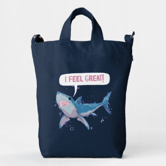 Shark Greatness is All About Attitude Duck Bag