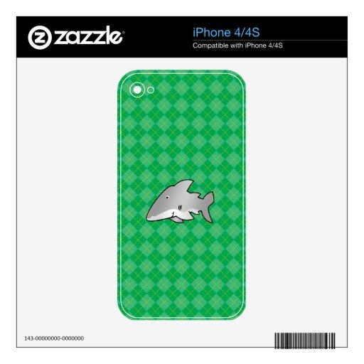Shark green argyle pattern iPhone 4 skins
