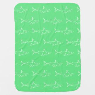 Shark greens receiving blanket
