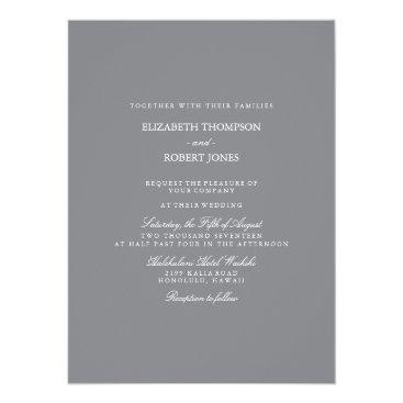 Beach Themed Shark Grey with White Wedding Detail Card