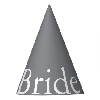 Shark Grey with White Wedding Detail Party Hat