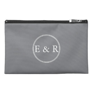 Shark Grey with White Wedding Detail Travel Accessory Bag