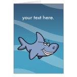 Shark Grin Greeting Cards