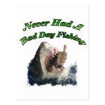 Shark hand post card