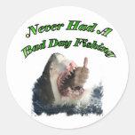 Shark hand round sticker