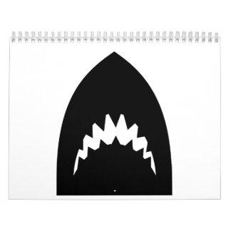Shark head teeth calendar