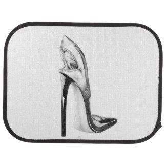 shark heel car floor mat