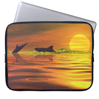 Shark Hunting a Dolphin Laptop Bag