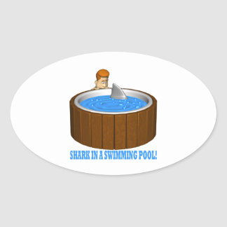 Shark In A Swimming Pool Sticker
