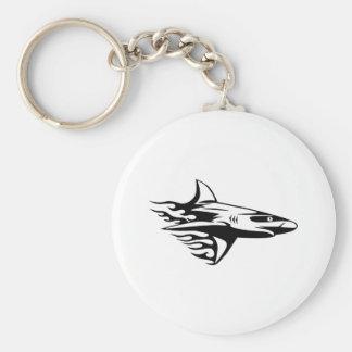 Shark in Flames Basic Round Button Keychain