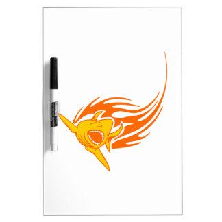 Shark in Flames Dry-Erase Board