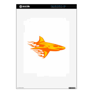 Shark in Flames Skin For The iPad 2