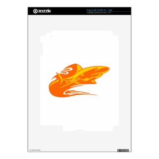 Shark in Flames Skins For iPad 2