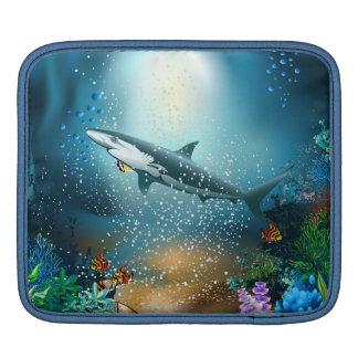 Shark In Ocean iPad Sleeve